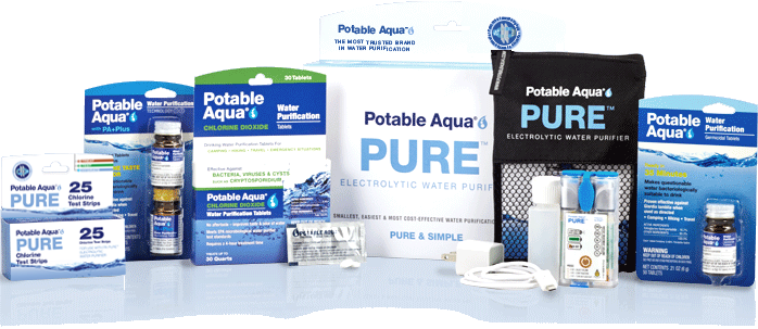 Potable Aqua Pure Device Chlorine Dioxide Iodine tablets